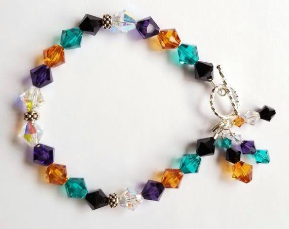 Swarovksi Crystal Bracelet, Crystal Bracelet, Multi-Color Bracelet