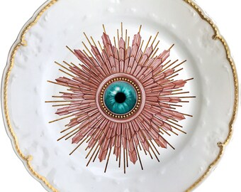 London Burst - Eye - Vintage Porcelain Plate - #0537
