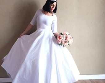 White WEDDING Dress with Ultimate Petticoat Set