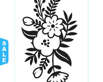 Darice® Embossing Folder - Small Floral Sprig - 4.25 x 5.75 inches, scrapbooking, card making, greeting cards, invitations and more