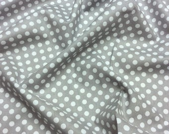 Nutex Wildwood Basic Grey/White Spot Patchwork Quilting Dressmaking Fabric