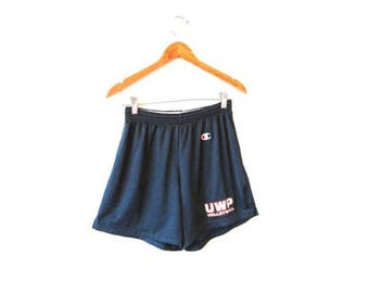 Vintage 1990s CHAMPION UWP VOLLEYBALL University of Wisconsin Platteville Mesh Drawstring Shorts Sz M