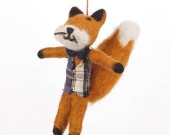Mr Fox- Felt animals - Needle felted Animal - Needle felt - Woodland decorations - Christmas- Ethical - Handmade