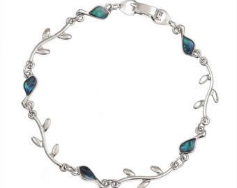 Tide Jewellery Paua Shell Bird & Branch Bracelet Gift Boxed