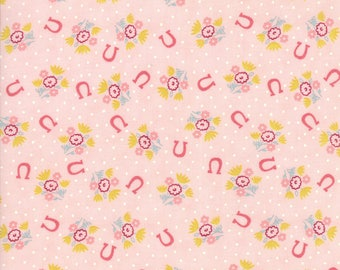 Howdy - Horseshoe Dreams Pink by Stacy lest Hsu for Moda, 1/2 yard, 20554 18