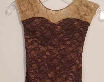 READY to SHIP Sweetheart Lace Leotard