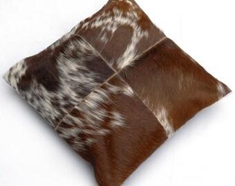 Natural Cowhide Luxurious Patchwork Hairon Cushion/pillow Cover (15''x 15'')a234