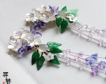 Handmade hair clip,butterfly hair clip,Flower hair clip,blossom hair clip,gift for women,gift for girlfriend,wedding accessories