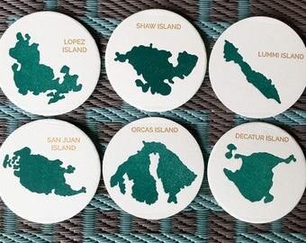 San Juan Island Coasters