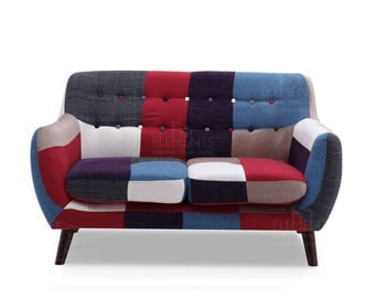 Patchwork Sofa 2 Seater - Ideal for small space living