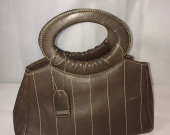 Beautiful Brown Leather Dents Bag