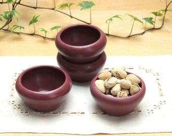 Zanesville Stoneware Company Matte Rose Small Dish Set of Four Shape #D18
