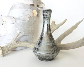 """Stangl Pottery 'Colonial Silver' Bud Vase 8"""" Tall"""