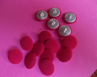 10 diameter 18mm covered with bright red fabric buttons, tail