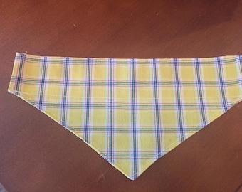 Checkered pattern Over the collar Dog Bandana