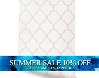 Moroccan Beige Peel & Stick Fabric Wallpaper Repositionable