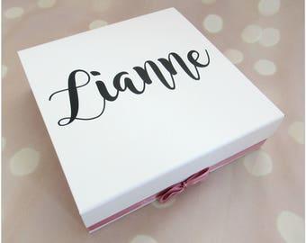 """Personalised """"will you be my bridesmaid?"""" keepsake box, memory box, gift box, wedding day"""