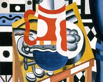 FERNAND LEGER - 'Still Life with a Beer Mug' - original archival quality print - very large (Curwen Press, London. Picasso era)