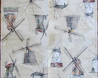 Paper pinwheels towel