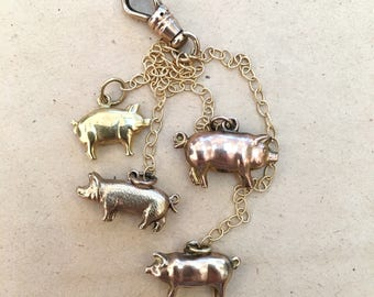 9ct Gold Pig Charm Bundle
