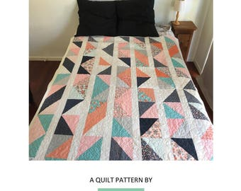 Mixed Triangles Quilting Pattern | Quilting Pattern | PDF pattern | immediate download