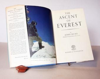 Ascent of Everest 1954 John Hunt colour plates Hardback adventure climbing vintage picture travel adventure