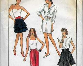 Simplicity 8544            Misses Skirts in Four Versions           Size 10      Uncut