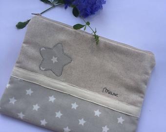 Baby Toilet Bag-baby kit-baby shower-baby gift-modern gift-christening-Star pouch