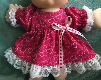 "Hearts dress fits 14"" CPK--CLOTHES ONLY"