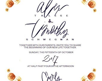 Wedding Suite // Wedding Invitation // Bridal Shower Invite