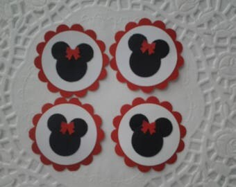 Minnie Mouse tags cupcake toppers gift tags party favors
