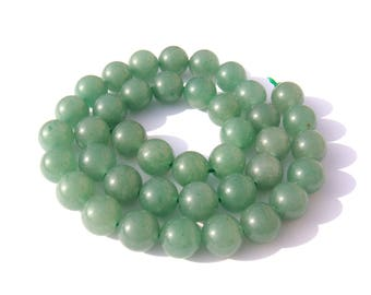 5 natural green 10 mm Aventurine bead