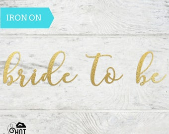 Bachelorette Party - Iron On - Bride Squad -  Applique - Bride To Be Decal - Bridesmaid - Maid of Honor - Heat Transfer - Bride Tribe