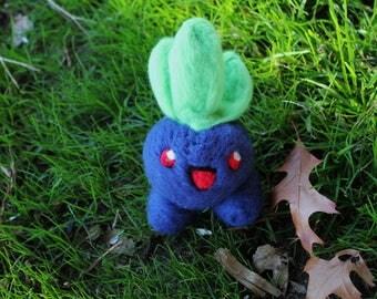 Needle Felted Oddish - Felt Pokemon Oddish - Tiny Felt Oddish - Wool Oddish Sculpture - Oddish Cosplay - Miniature Oddish - Felted Oddish