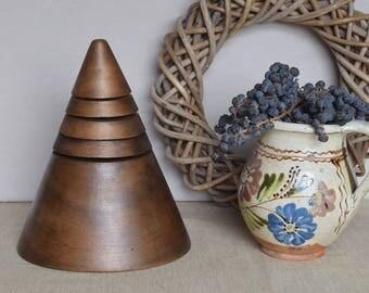 Old Vintage Wooden Millinery Hat Block Hat Mold Hat Form