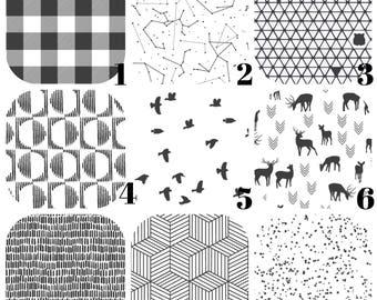 Black and White SHEETS, Twin Sheets, Toddler Bedding, Round Crib Sheet - Stokke Junior, Ikea Toddler Sheet, Leander Junior, by Hawthorne