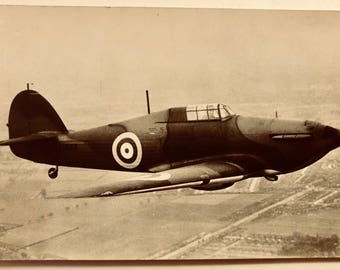 Vintage Aviation Postcard . WW11 Fighter Plane ? c1940s