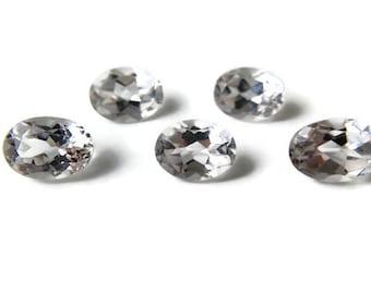 1 White Topaz Oval Facet 8x6mm - 1 Natural Gemstone