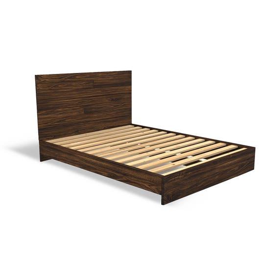 solid wood platform bed frame and headboard simple bed frame bedroom furniture rustic - Solid Wood Bedroom Furniture