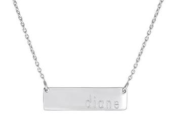 Personalized Dillon Bar Necklace