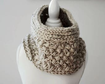 Women's Scarf, Knit Cowl, Knit Scarf, Gifts for Her, Wool Scarf, Neck Warmer, Winter Scarf, Crochet Scarf, Crochet Cowl, Gifts Under 50