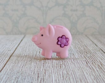 Piggy Bank - Success - Guru - Money - Pink - Girl - Power - Lapel Pin
