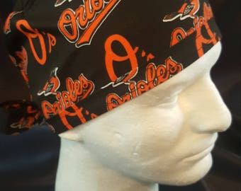 Baltimore Orioles MLB Baseball Tie Back Surgical Scrub Hat