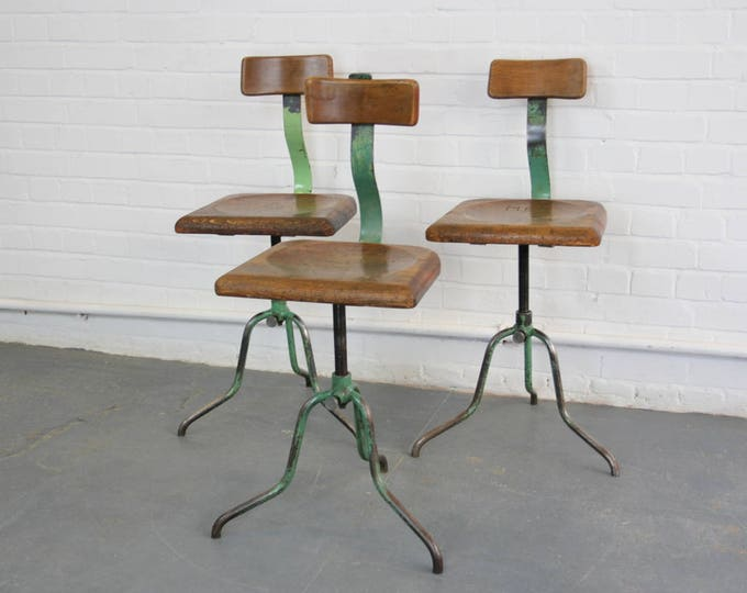 Czech Industrial Factory Chairs Circa 1920s