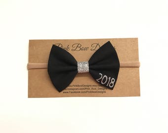 New Year Bow headband, gold bow headband, baby bow, gold Christmas bow, personalized baby gift, black bow, red bow, christmas bow, 2018 bow