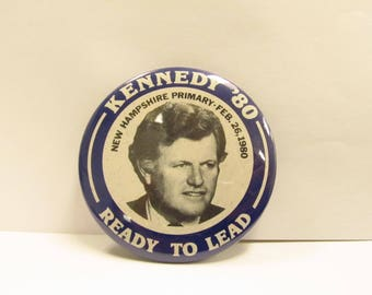1980's Presidential Canidate Ted Kennedy Democratic Campaign Pin W #31