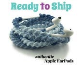 RTS Wrapped Headphones for iPhone, Handmade iPhone Headphones, Custom Headphones, iPhone EarPods Tangle Free Earbuds WICKED COOL