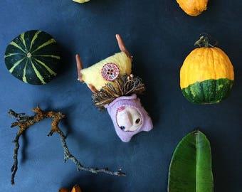 Teddy Doll, Artist Teddy Bear, Artist Doll, Artist Toy, One of a Kind Toy, Mixed Media Art, Small Toys, Stuffed Toys, Alpaca, La-Doll Clay