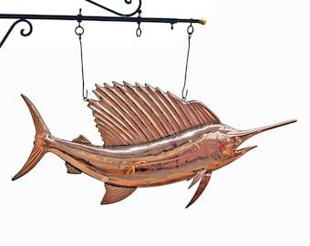 Copper Sail FISH Trade Sign Ocean Sea Fishing Bill Seafood Restaurant Sword