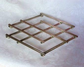 Vintage steel effect table mat / 70's